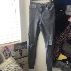 topshop jamie dark grey skinny jeans size 26